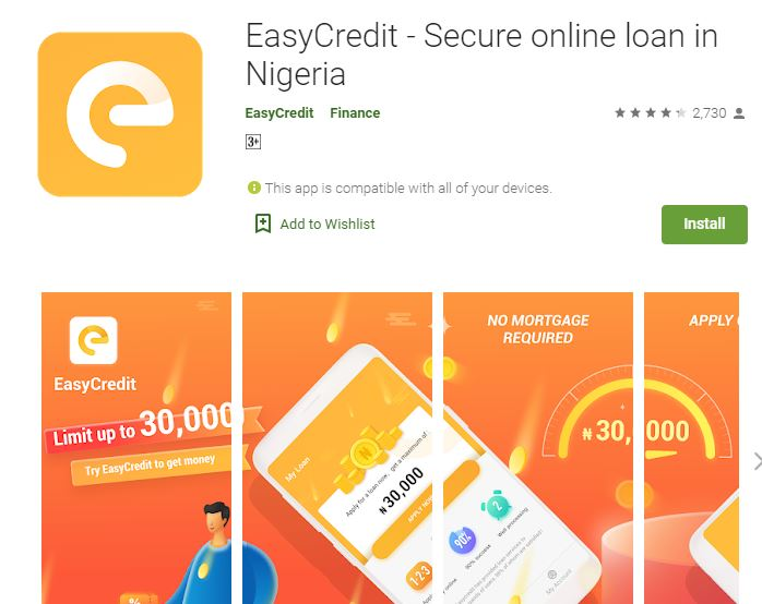 Customer Care: EasyCredit Loan - Login and Register (Website)