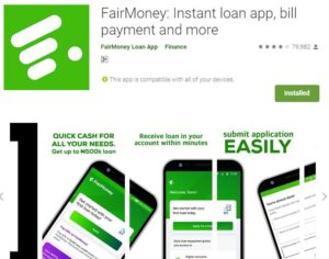 Customer Care: FairMoney Loan - Login and Register (Website)