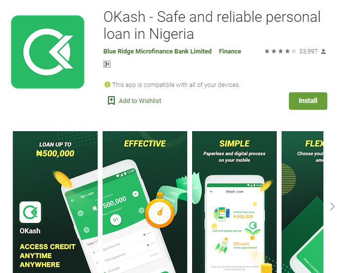 OKASH LOAN APP