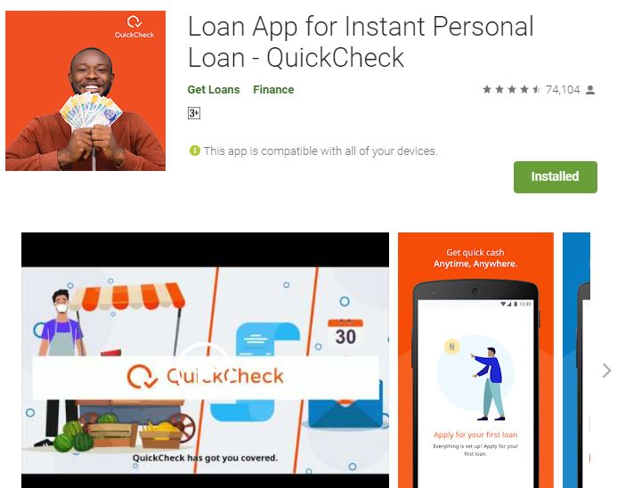 QuickCheck Loan App