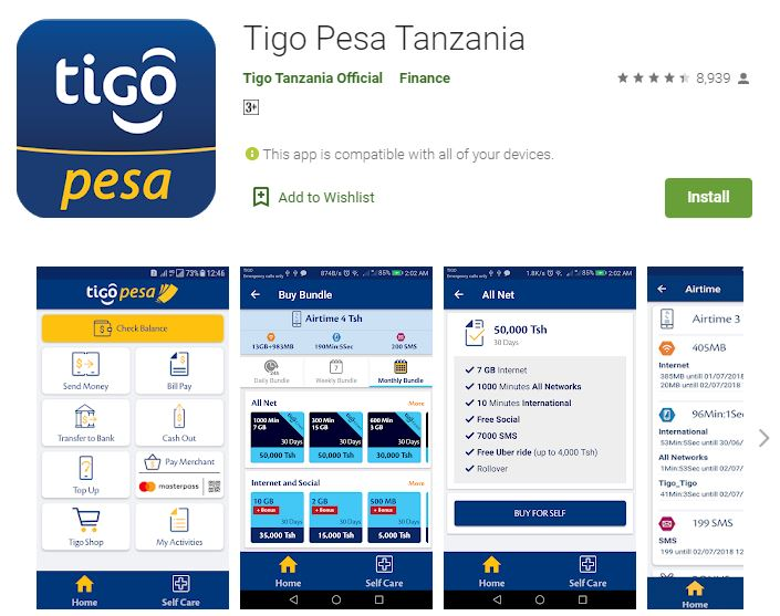 www.TigoPesa.com - Tigo Pesa Tanzania Website - Login and Register
